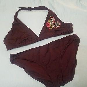 Old Navy Dark Brown Bikini